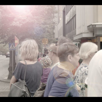 Teoksen nimi: Kaupunkia, stillkuva videosta 2015