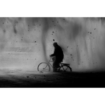 Teoksen nimi: Ice – Stay # 6 METSO JUHA Ice-Stay # 6, 2014 , 80 x 120 cm  Sarjasta Jää-jää / Ice-Stay / Eis-Bleib