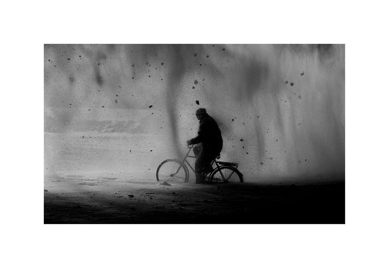 Ice – Stay # 6 METSO JUHA Ice-Stay # 6, 2014 , 80 x 120 cm  Sarjasta Jää-jää / Ice-Stay / Eis-Bleib