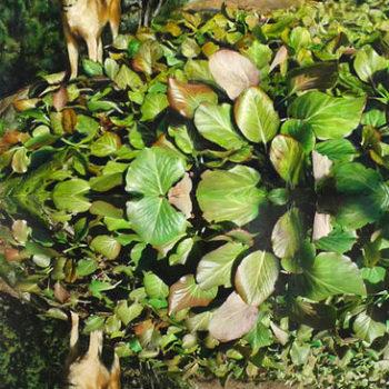 Teoksen nimi: Reflection #5 (Ågi puutarhassa)