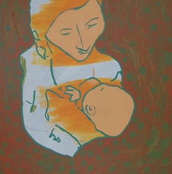 Teoksen nimi: Äiti ja lapsi