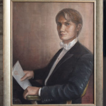 Name of the work: Nuoren tohtorin muotokuva / Portrait of a young doctorate