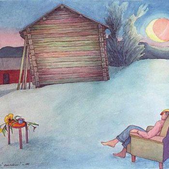 Teoksen nimi: Sininen hetki, 2000