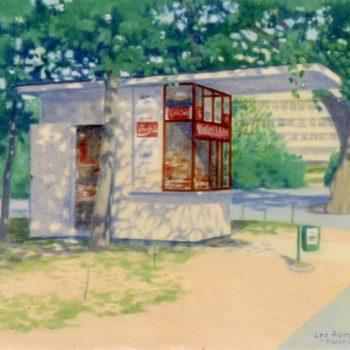Teoksen nimi: Kaisaniemenrannan kioski 1974
