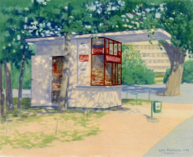 Kaisaniemenrannan kioski 1974