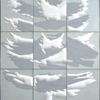 Teoksen nimi: Pilvien varjot 185×165 cm