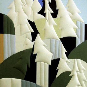 Teoksen nimi: Metsä 153×127 cm