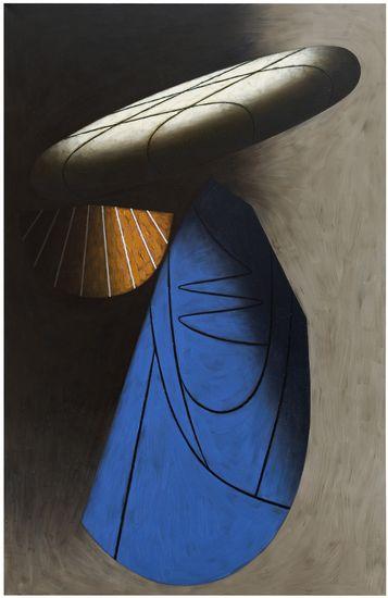 Vierailija, 2011, öljy kankaalle, 255 x 165 cm