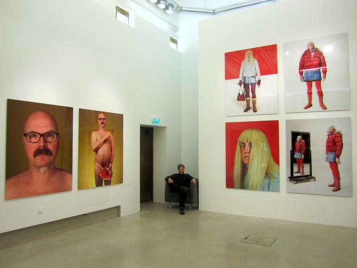 Näkymä näyttelystä valokuvagalleria Hippolytessa 2014. / An exhibition view from Photographic Gallery Hippolyte, 2014.