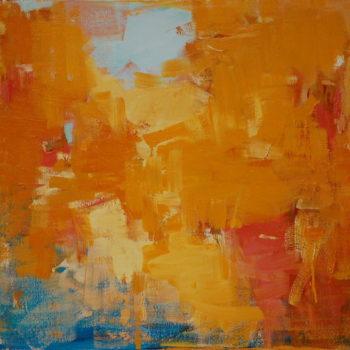 Teoksen nimi: Maalaus, 75x80cm, öljy kankaalle, 2011