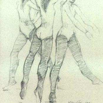 Teoksen nimi: Kolme Tanssijaa