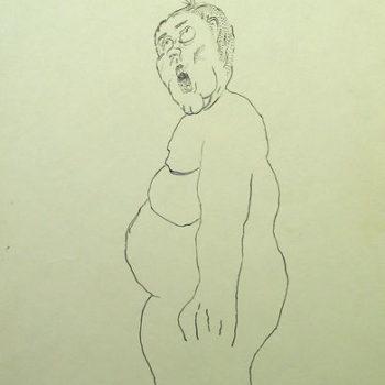 Teoksen nimi: Nimetön, 2005, Muste paperille, 29,5×19,5 cm