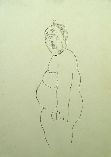 Nimetön, 2005, Muste paperille, 29,5×19,5 cm