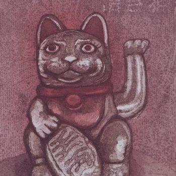 Name of the work: Onnenkissa, Maneki neko