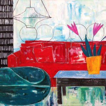 Teoksen nimi: Tänään kotona -sarjaa, Olohuone 2015 (yksityiskokoelma)