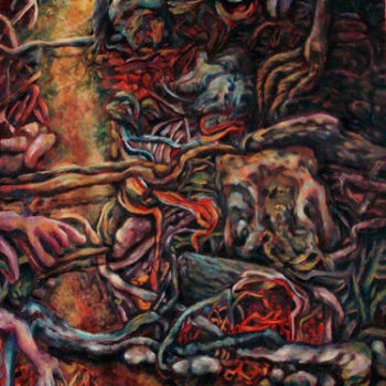 Teoksen nimi: Reitti  2008, 2008,öljy kankaalle, 79 x 66 cm