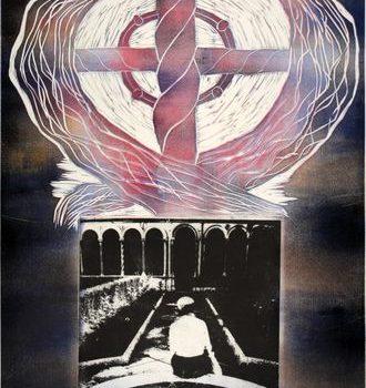 Teoksen nimi: Sarjasta luostaripiha/Cloister Court