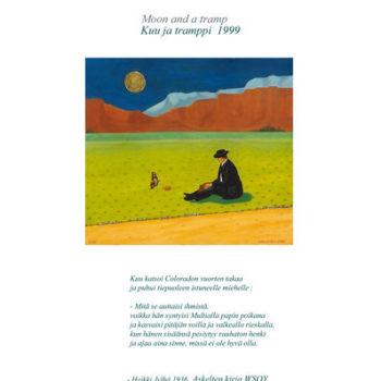 Teoksen nimi: Kuu ja trappi, 1999