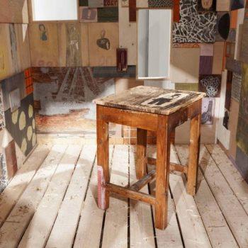 Teoksen nimi: Työhuone, sisäkuva, 2011