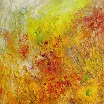 Teoksen nimi: Yellow Sunrise, 2007 33X27 oil on canvas