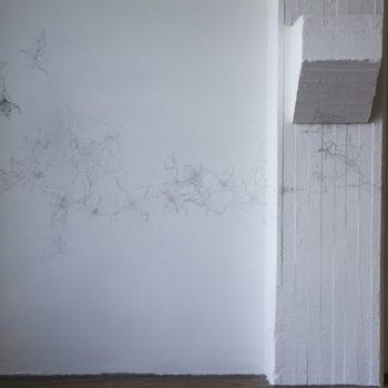 Teoksen nimi: osa installaatiosta ALKU  / Detail of the installation BEGINNING