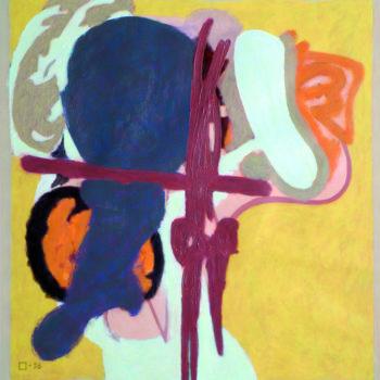 Teoksen nimi: Keltainen – Yellow 1996 Akryyli paperille Acrylic on paper78x74 Foto Dusan Jovanovic