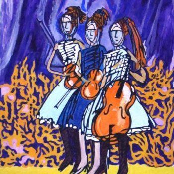Teoksen nimi: Kolme viulua