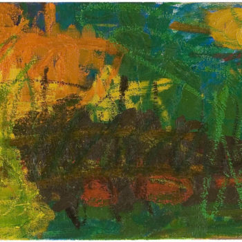 Teoksen nimi: Muuttuneet olosuhteet, 2005, öljy kankaalle, 35c110