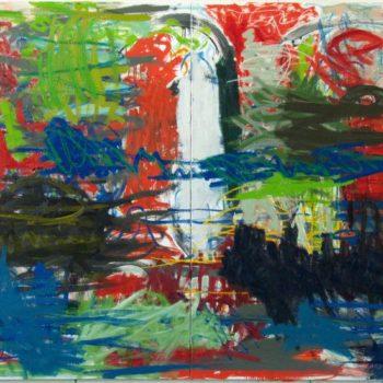 Teoksen nimi: Anfield Road, 2010, öljy kankaalle, 150×214