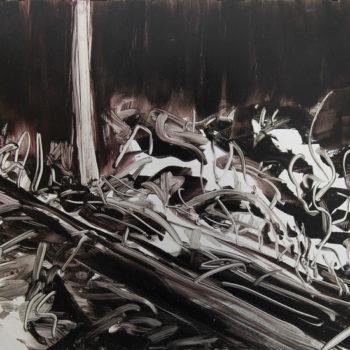 Teoksen nimi: Metsä yöllä 2