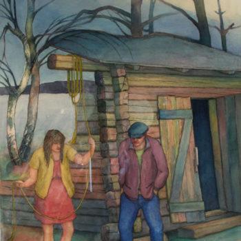 Teoksen nimi: Ovien ulkopuolella, 2000