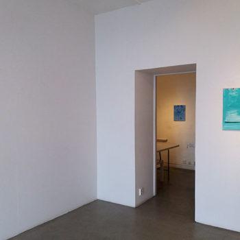 Teoksen nimi: Kuva näyttelystä Jotain oli tossa / Something Was There Galleria Å, Turku, 2017