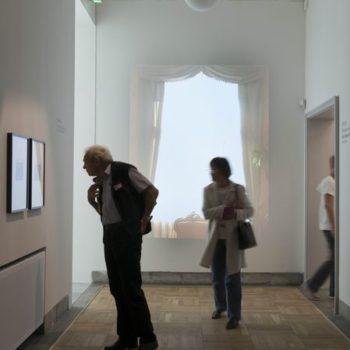 Teoksen nimi: Ikkunat -videoinstallaatio Trondheimin taidemuseo 2012