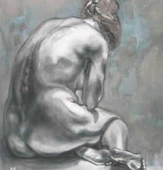 """Teoksen nimi: """"Riisuttu"""", öljyväri, 2011"""