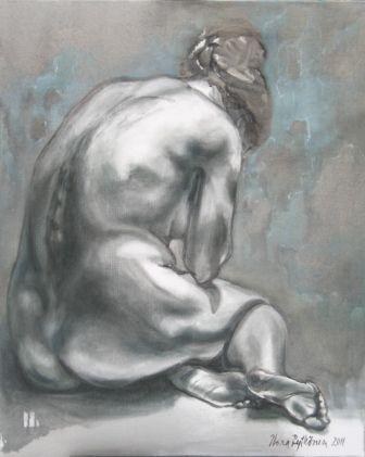 """""""Riisuttu"""", öljyväri, 2011"""