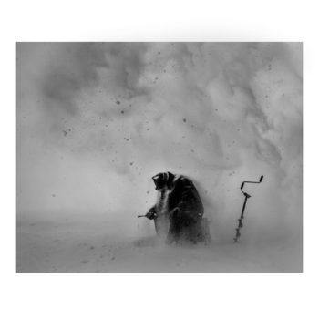 Teoksen nimi: Ice – Stay # 1 METSO JUHA Ice-Stay # 1, 2014 , 80 x 100 cm  Sarjasta Jää-jää / Ice-Stay / Eis-Bleib