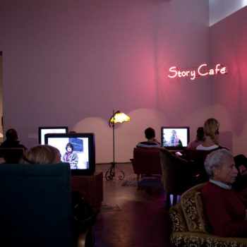 Teoksen nimi: Story Café, 2010–2011, Contemporary ARt Museum, Helsinki, Finland
