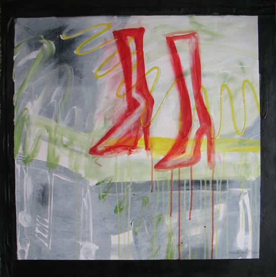 Punaiset Bootsit. Red Boots. 73 x 73.