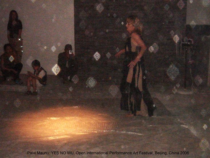 YES NO WU, performance, 10th OPEN International Performance Art Festival, Beijing, China , 2006