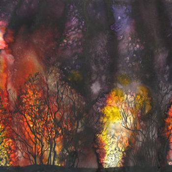 Teoksen nimi: Forest fire