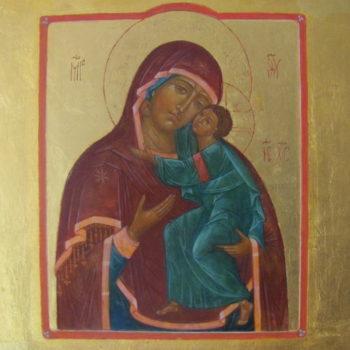 Teoksen nimi: Eleusa, (Hellyyden Jumalanäiti)