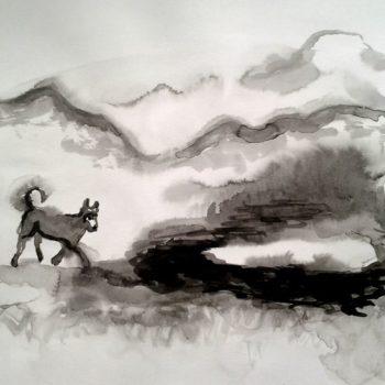 Teoksen nimi: Koiran vuoret takana