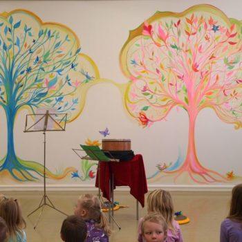 Teoksen nimi: päiväkoti Niinipuun seinämaalaus