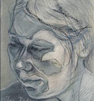 """Teoksen nimi: """"Sisokset 7"""", kuivapastellisarjasta, 2010"""
