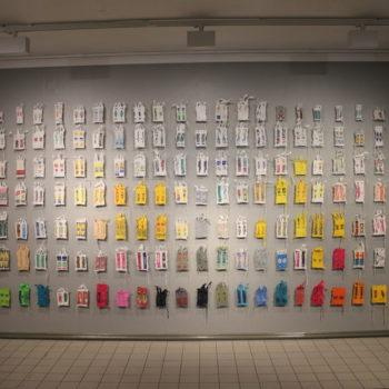 Teoksen nimi: Ikonostaasi, Kajaanin taidemuseo 2018