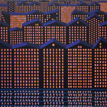 Teoksen nimi: Kaupungin valot II