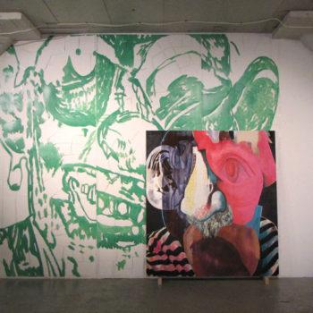 Teoksen nimi: Installaatio Media Poet, Galleria Huuto 2016
