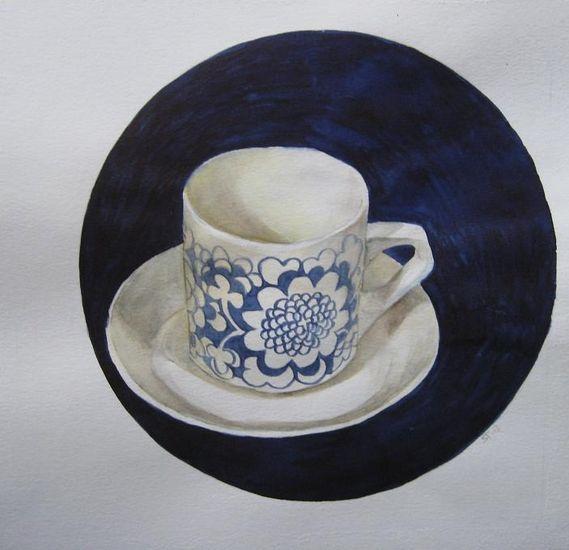 Kahvia, kiitos   – akvarelli