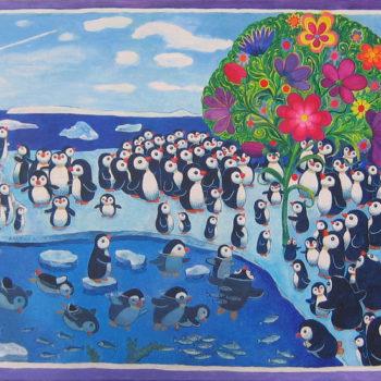 Teoksen nimi: Kaksi sataa pingviiniä