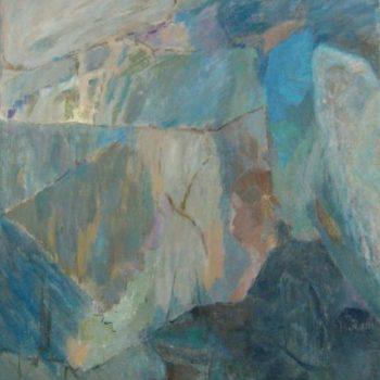 Teoksen nimi: Enkelin rukous  v. 2001    120 x 100 cm